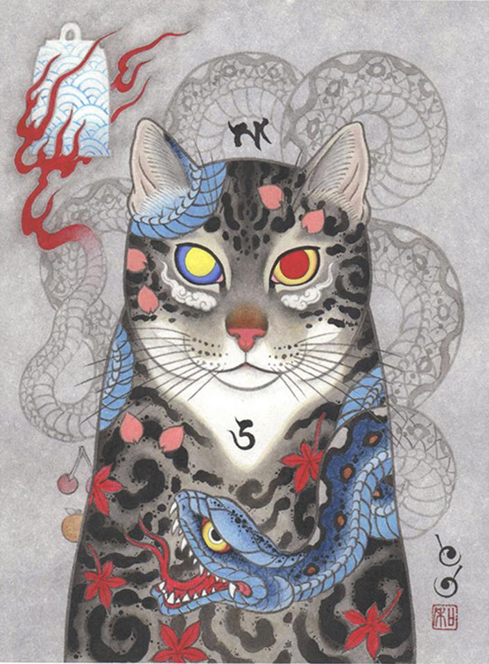 monmon cats los adorables gatitos tatuados de horitomo dolor dulce dolor. Black Bedroom Furniture Sets. Home Design Ideas